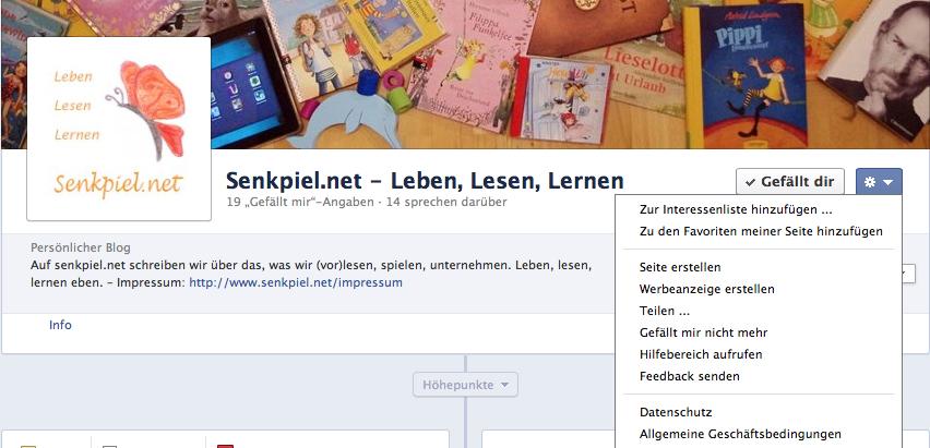 Facebook Interessenliste erstellen