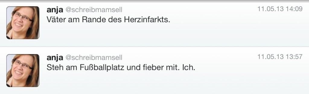 Tweets Fussballplatz