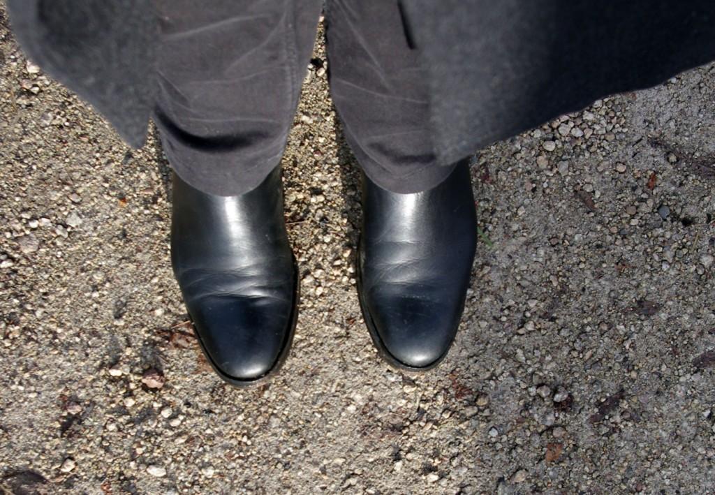 fast saubere Schuhe.