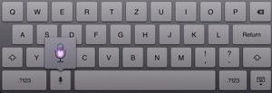 iPad-Tastatur mit Siri-Mikrofon